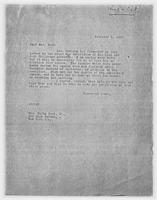 Sec'y to Mrs. Force to Mrs. Elihu Root, Jr., February 6, 1928