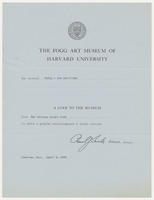 The Fogg Art Museum of Harvard University has received forty-one paintings from The Whitney Studio Club, April 2, 1928
