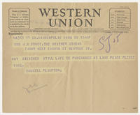 Russell Plimpton to Mrs. J.R. Force, Dec 20, 1927, 1:53 PM