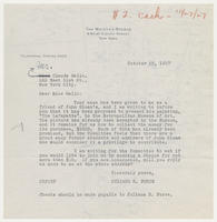 Juliana R. Force to Mr. Claude Gallo, October 25, 1927