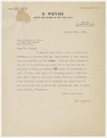 Carl Zigrosser to Mrs. Juliana R. Force, January 28th, 1929