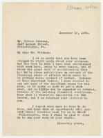 Juliana Force to Hobson Pittman, December 12, 1929