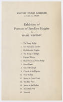 Exhibition of portraits of Brooklyn Heights by Isabel Whitney