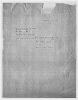 Sec'y to Mrs. Force to Mrs. Henry P. Davison, February 6, 1928
