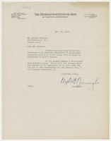 Clyde H. Burroughs to Mr. Harley Perkins, March 21, 1927