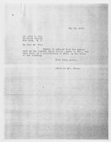 Sec'y to Mrs. Force to Mr. John C. Fox, May 29, 1928