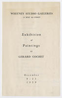 Exhibition of paintings by Gerard Cochet