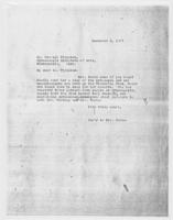Sec'y to Mrs. Force to Mr. Russell Plimpton, December 9, 1927