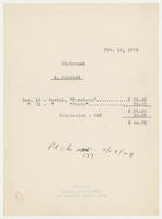 Statement : K. Schmidt, Feb. 18, 1929