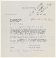 Juliana R. Force to Mr. Phelps Phelps, Oct. 24, 1927