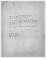 JRF to Mr. Arnold Ronnebeck, February 6, 1928
