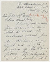 Florence Dreyfous to Juliana R. Force, Oct. 26, 1927