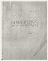 Sec'y to Mrs. Force to Duncan Ferguson, Sept. 11, 1928