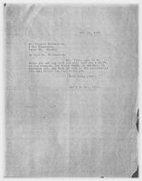 Sec'y to Mrs. Force to Mr. Clement Wilenchick, Oct. 16, 1928