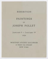 Paintings by Joseph Pollet : exhibition, January 2-January 19, 1929