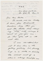 Henry Schnakenberg to Mrs. Whitney, Nov. 13
