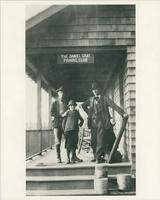Melville and John Rosch at the Daniel Gray Fishing Club