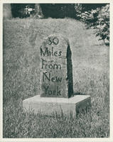 30 Miles From New York Marker from Post Road