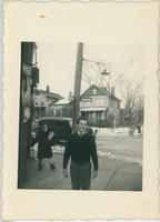 Man at corner of S. Lexington and Fisher Avenue