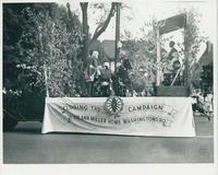 Closing the Campaign Float in 1933 Parade