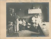 Interior of house containing eleven families