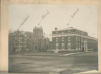 Photo of High School, Church and YMCA buildings in White Plains