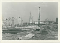 Galleria mall construction, at site of former court house