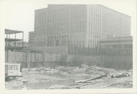 Galleria mall construction, looking south-east to county office building