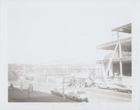Galleria mall construction, looking from front of county court house building