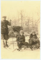 George and Margaret Peterson with their cousin during Winter