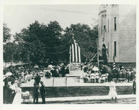 Dedication of Daughters of the American Revolution Monument in Front of the Armory