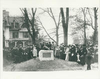Dedication of Mortar from the Revolutionary War on North Broadway