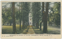 Postcard depicting entrance to Church of Divine Compassion, White Plains