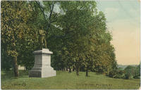 Postcard depicting the Soldiers' Monument, White Plains