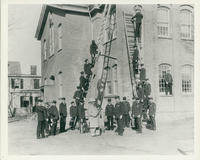 Firemen Drilling at the Court Street School