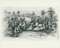 "Illustration depicting ""Purchase of White Plains from the Indians, November 23, 1683"""