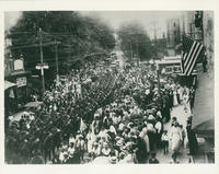 World War I Soldiers parading through White Plains