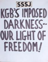 KGB's imposed darkness - our light of freedom!