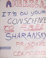 America, it's on your conscience to free Sharansky, Prisoner of Conscience