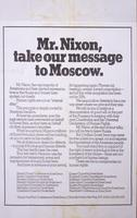Mr. Nixon, take our message to Moscow